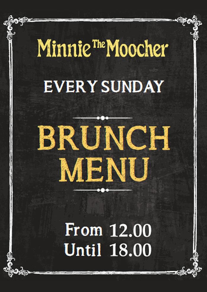 Brunch every Sunday   Minnie The Moocher